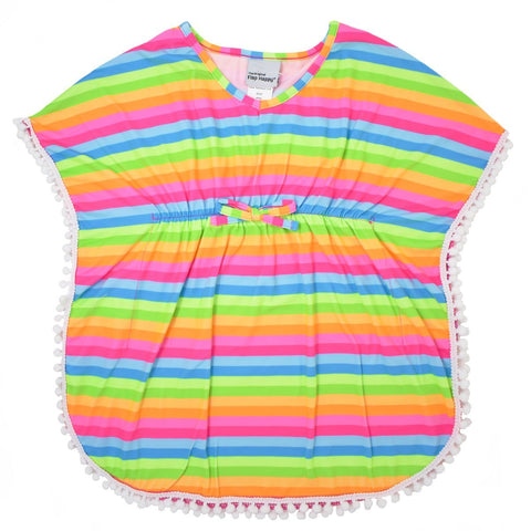 Flap Happy Rainbow Stripe UPF 50+ Kaia Beach Swim Cover-Up