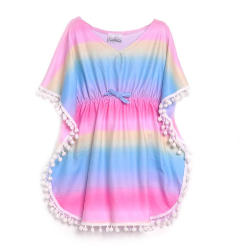Flap Happy Ombre Rainbow UPF 50+ Kaia Beach Swim Cover-Up