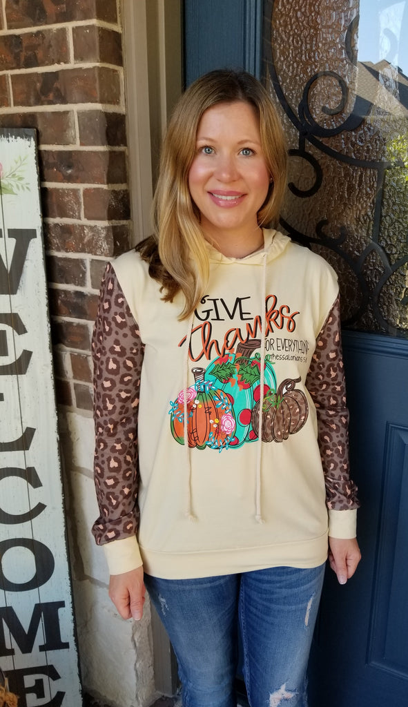 "Mommy & Me Girls ""Give Thanks For Everything"" Hooded Long Sleeve ShirtMommy & Me Girls ""Give Thanks For Everything"" Hooded Long Sleeve Shirt"