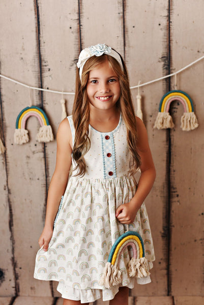 Swoon Baby Rainbow Fleur Bliss Pocket Dress with Shorties Style 21-50
