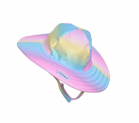 Flap Happy Rainbow Ombre UPF 50+ Summer Splash Swim Hat