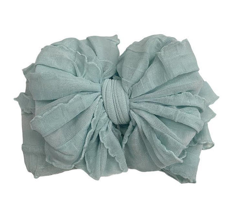 In Awe Couture Seafoam Ruffled Headband