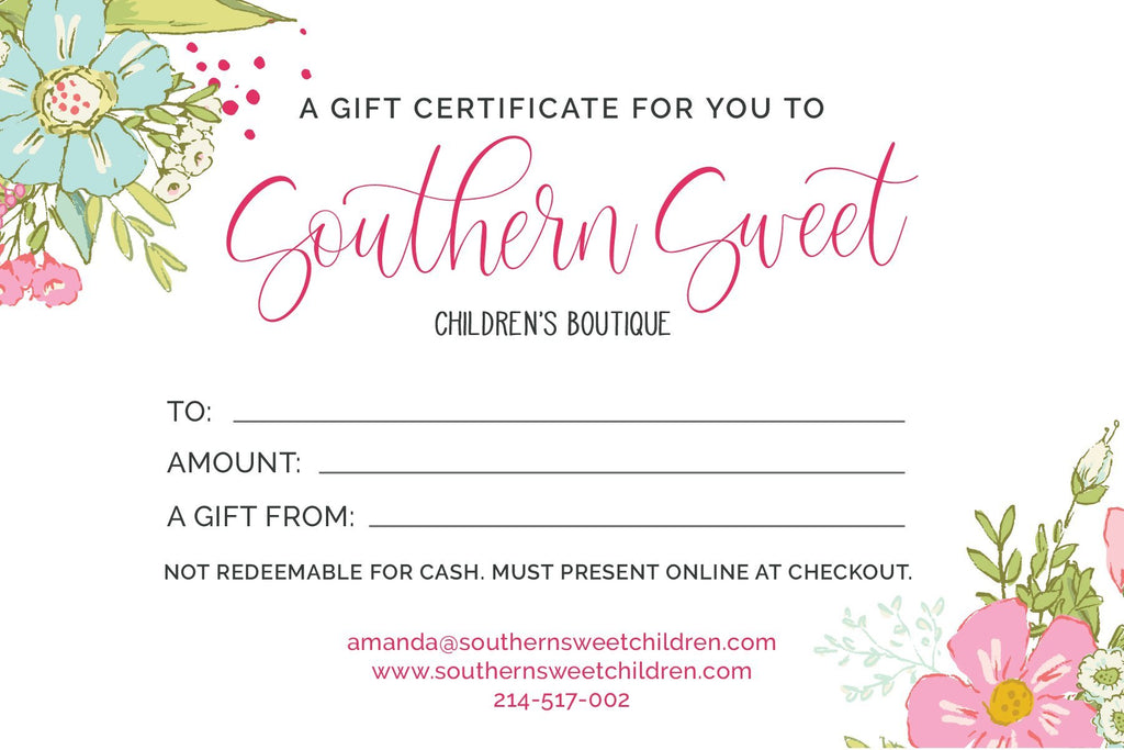 Southern Sweet Gift Cards