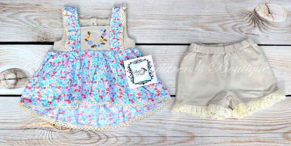 Little Prim Floral Rainy Set