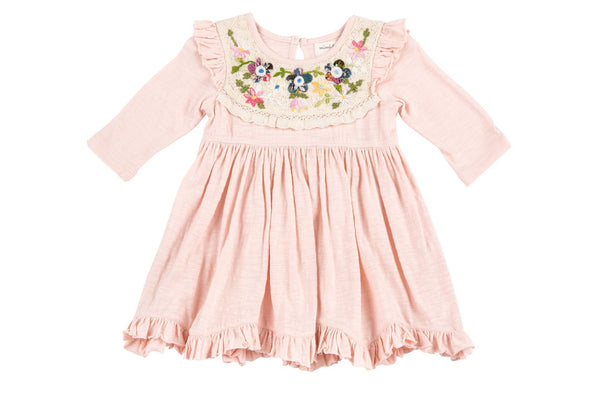 Mimi And Maggie Wildflower Collection Flowers On Lace Dress