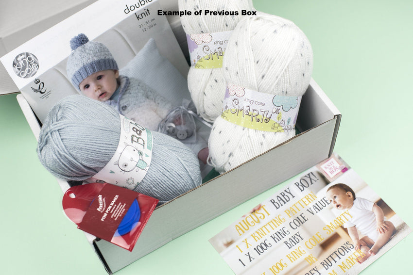 12 Month Baby Knitting Subscription (every month) KNIT in a BOX