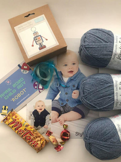 April 2020 Child-Boy Box On Sale Now! Buy Today Whilst Stocks Last! Knit in a Box