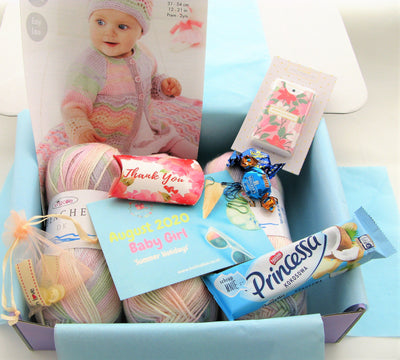 August 2020 Baby-Girl Box On Sale Now! Knit in a Box