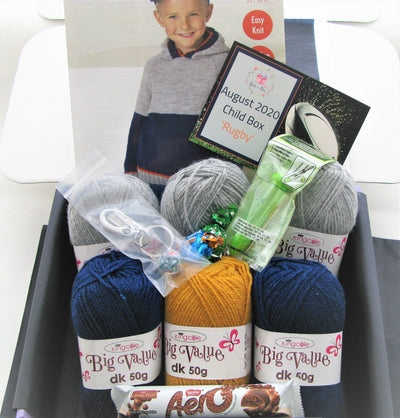 August 2020 Child-Boy Box On Sale Now! Knit in a Box