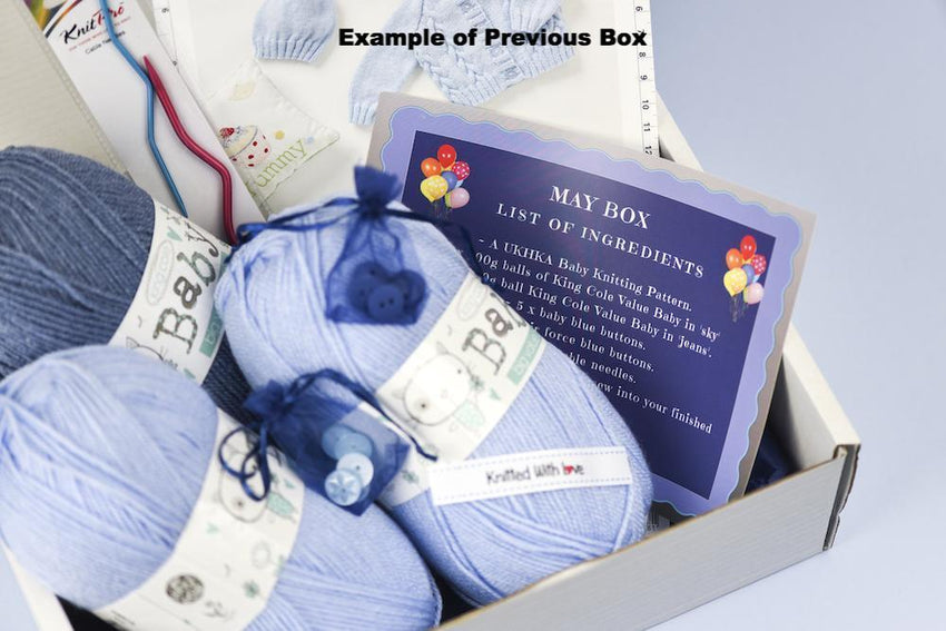 Baby Girl Bi-Monthly Knitting Subscription Box (comes every two months) KNIT in a BOX