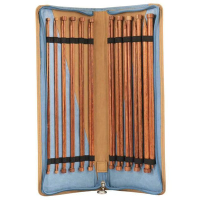 Ginger: KnitPro WOOD KNITTING NEEDLES Set of 11 Pairs: 35cm Knit in a Box