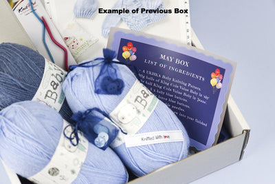 Girls- Childrens Bi-Monthly Knitting Subscription Box New! (comes every two months) KNIT in a BOX