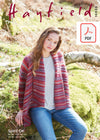 Hayfield 10035 Ladies Cardigan in Hayfield Spirit DK (PDF) Knit in a Box