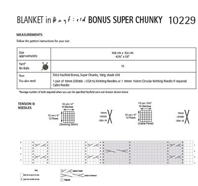 Hayfield 10229 Bonus Super Chunky DK (PDF) Knit in a Box