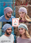 Hayfield 8187 Hats in Journey DK (PDF) Knit in a Box