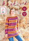 Hayfield 8253 Ladies Tunic Sweater in Spirit Chunky (PDF) Knit in a Box