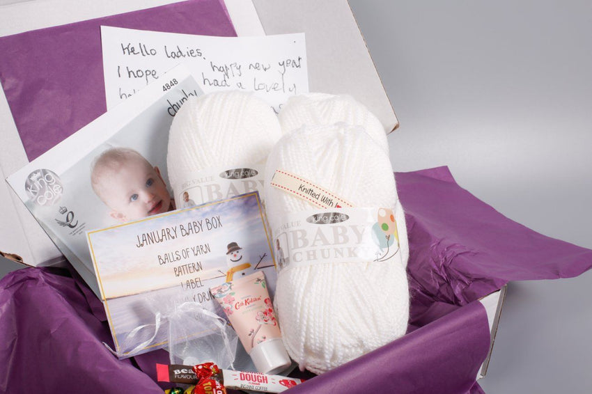 January 2019 Baby Box On Sale Now! Buy Today Whilst Stocks Last! Knit in a Box