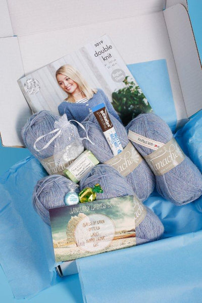 January 2019 Ladies Box On Sale Now! Buy Today Whilst Stock Lasts! Knit in a Box