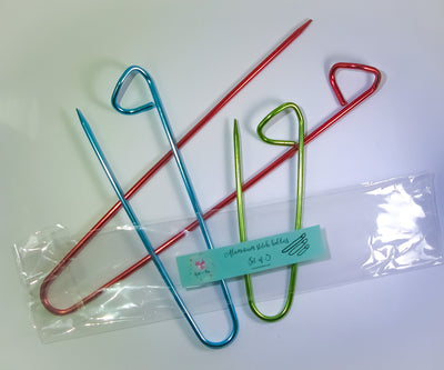 Knit in a Box Set of 3 Aluminum Stitch Holder for Knitting and Crochet Knit in a Box