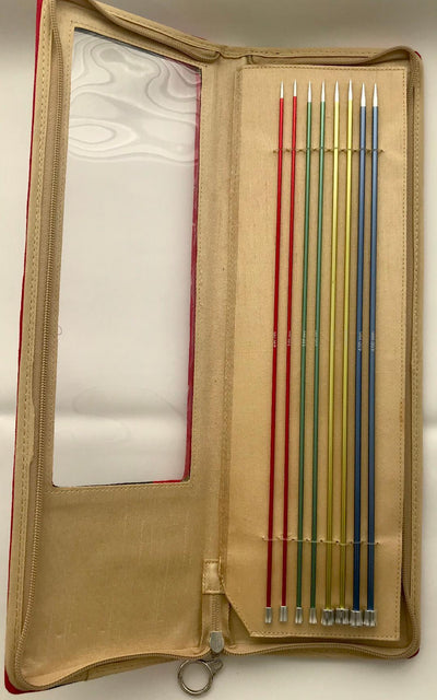 Knit Pro Zing Knitting Needles Set of 8: 35cm Knit in a Box