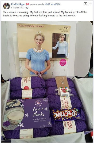 May 2020 Ladies Box On Sale Now! Buy Today Whilst Stocks Last! Knit in a Box