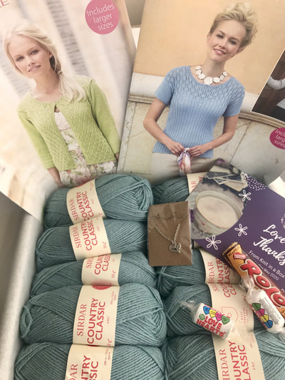 May 2020 Ladies Box On Sale Now! Buy Today Whilst Stocks Last! Knit in a Box Duck Egg Blue