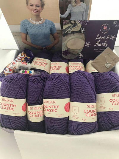 May 2020 Ladies Box On Sale Now! Buy Today Whilst Stocks Last! Knit in a Box Purple