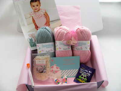 October 2020 Baby-Girl Box On Sale Now! Knit in a Box