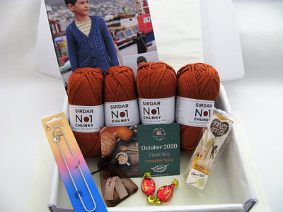 October 2020 Child-Boy Box On Sale Now! Knit in a Box
