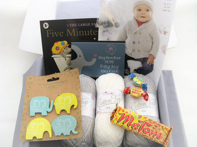 September 2020 Baby-Boy Box On Sale Now! Knit in a Box