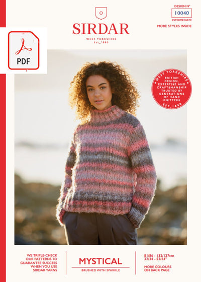 Sirdar 10040 Ladies Boxy Sweater in Sirdar Mystical (PDF) Knit in a Box