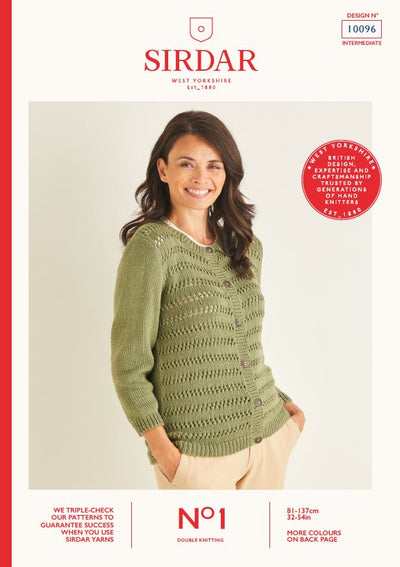 Sirdar 10096 Ladie Cardigans in Sirdar No1 DK Knitting (PDF) Knit in a Box