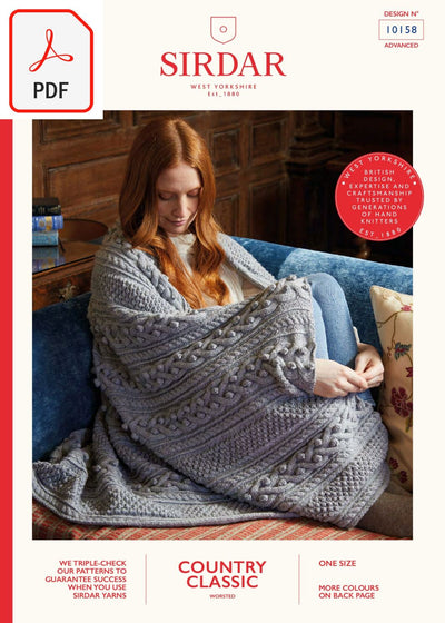 Sirdar 10158 Country Classic Worsted (PDF) Knit in a Box