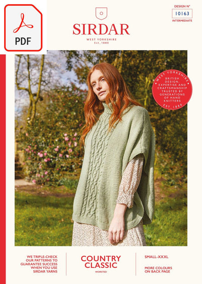 Sirdar 10163 Country Classic Worsted (PDF) Knit in a Box
