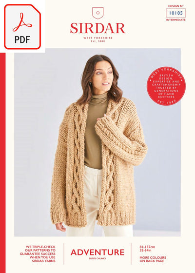 Sirdar 10185 Adventure Super Chunky (PDF) Knit in a Box