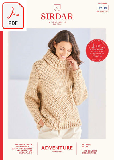 Sirdar 10186 Adventure Super Chunky (PDF) Knit in a Box