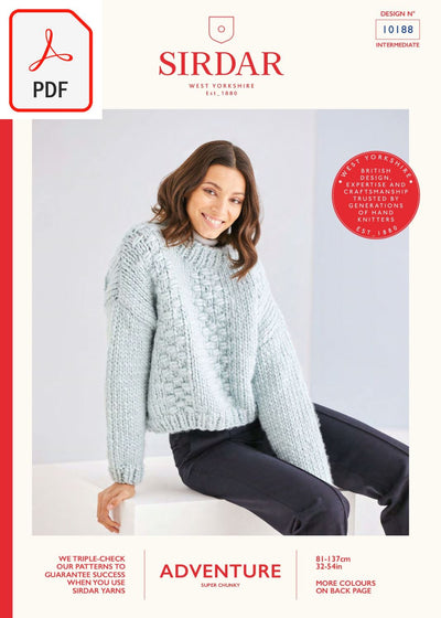 Sirdar 10188 Adventure Super Chunky (PDF) Knit in a Box