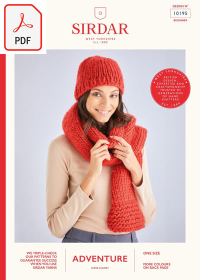 Sirdar 10195 Adventure Super Chunky (PDF) Knit in a Box