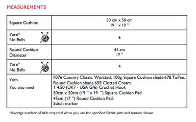 Sirdar 10233 Country Classic Worsted (PDF) Knit in a Box