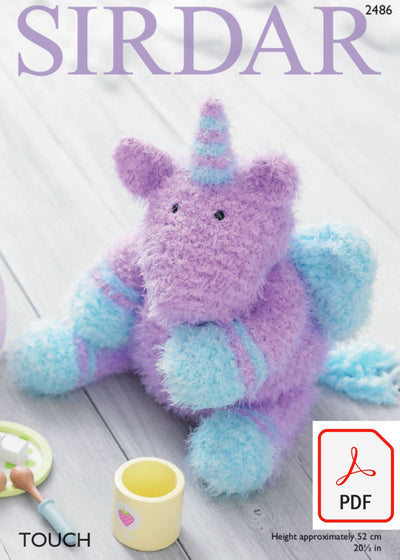 Sirdar 2486 Toy Unicorn in Touch (PDF) Knit in a Box