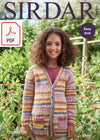 Sirdar 2492 Children Cardigan with Pockets in Crofter DK (PDF) Knit in a Box