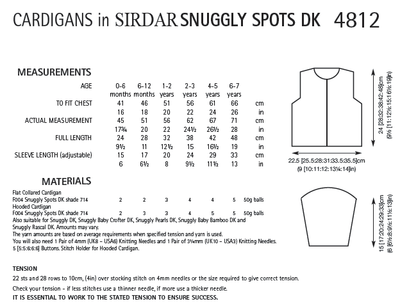 Sirdar 4812 Cardigans in Snuggly Spots DK (PDF) Knit in a Box
