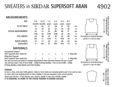 Sirdar 4902 Sweaters in Supersoft Aran (PDF) Knit in a Box