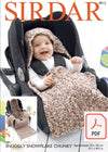 Sirdar 4912 Car Seat Blanket in Snuggly Snowflake Chunky (PDF) Knit in a Box