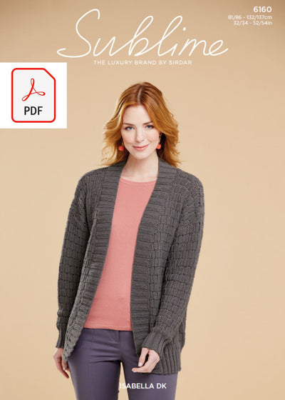 Sirdar 6160 Ladies Jacket in Sublime Isabella DK (PDF) Knit in a Box