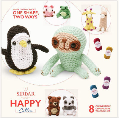 Sirdar Happy Cotton DK Happy Box - 50 x 20g + FREE Book Knit in a Box With Book 2