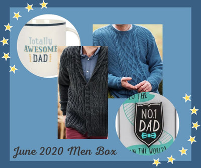 "Special Edition Men Knitting Box- Buy Today Whilst Stocks Last!! Knit in a Box Size L (40/42"")"