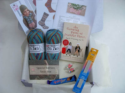 Special Edition Sock Box - Buy Today Whilst Stocks Last!! Knit in a Box Blue
