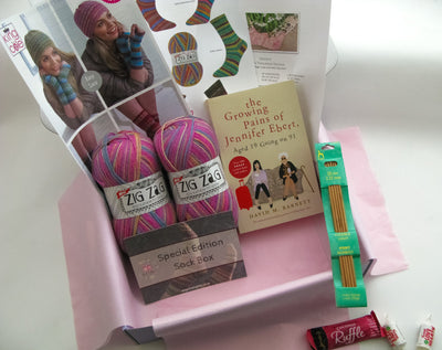 Special Edition Sock Box - Buy Today Whilst Stocks Last!! Knit in a Box Pink