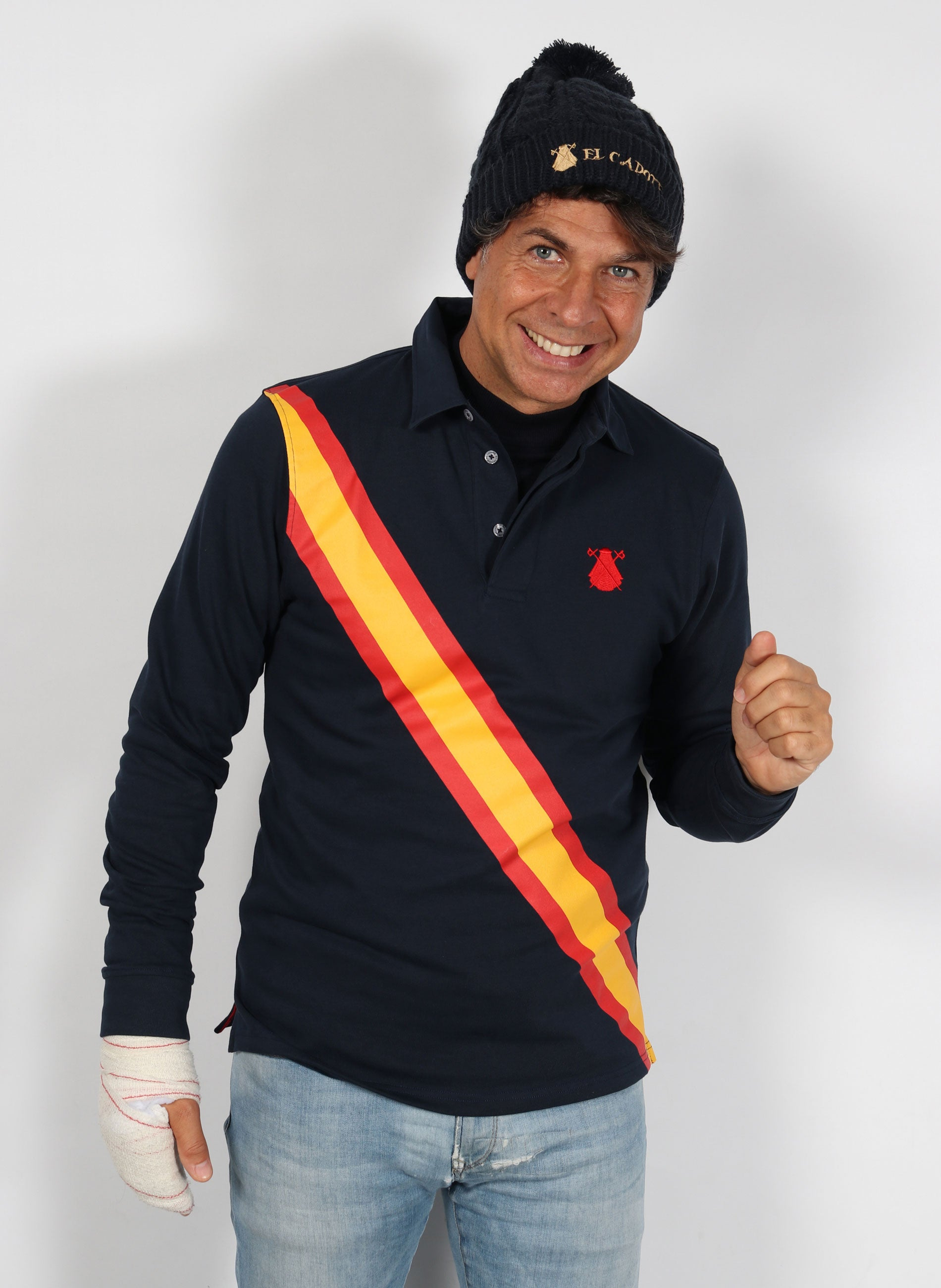 Men's Rugby Polo Navy Blue Spain